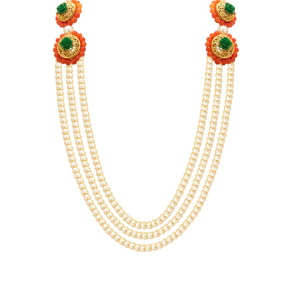 Sukkhi Resplendent Three String Gold Plated Necklace Set For Women-2