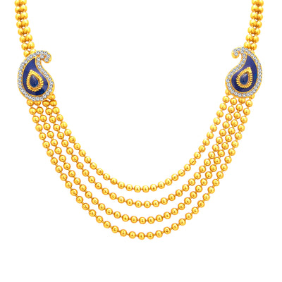 Sukkhi Delightful Four String Gold Plated Necklace Set For Women-2
