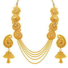 Sukkhi Marvellous Four String Gold Plated Necklace Set For Women