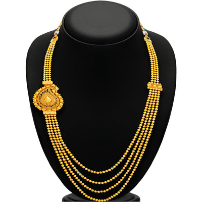 Sukkhi Stunning Four String Gold Plated Necklace Set For Women-3