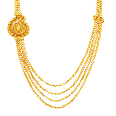 Sukkhi Stunning Four String Gold Plated Necklace Set For Women-2
