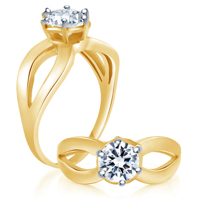 Sukkhi Alluring Two Tone CZ Ring