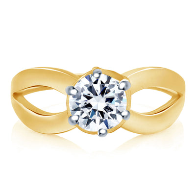 Sukkhi Alluring Two Tone CZ Ring-1