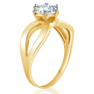 Sukkhi Alluring Two Tone CZ Ring-2