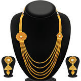 Sukkhi Excellent Five String Jalebi Gold Plated Kundan Necklace Set For Women-1
