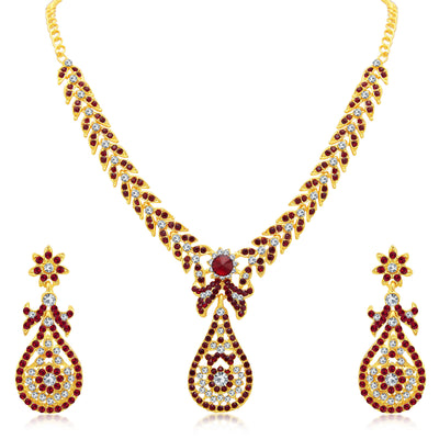 Sukkhi Glittery Gold Plated AD Set of 3 Necklace Set Combo For Women-3