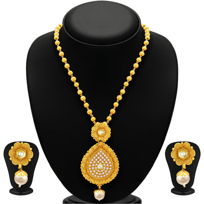 Sukkhi Delightly Jalebi Gold Plated Necklace Set For Women-1
