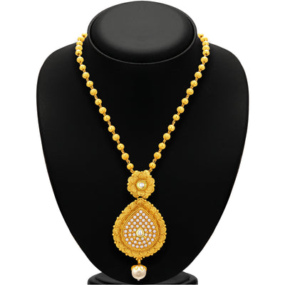 Sukkhi Delightly Jalebi Gold Plated Necklace Set For Women-3