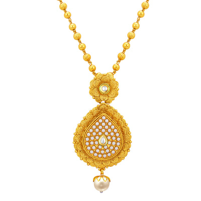Sukkhi Delightly Jalebi Gold Plated Necklace Set For Women-2