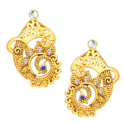 Sukkhi Lavish Peacock Gold Plated Necklace Set For Women-4