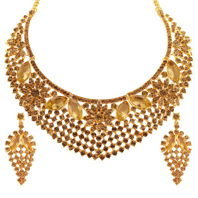 Sukkhi Finely LCT Stone Gold Plated AD Necklace Set For Women-1