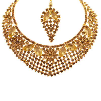Sukkhi Finely LCT Stone Gold Plated AD Necklace Set For Women-3