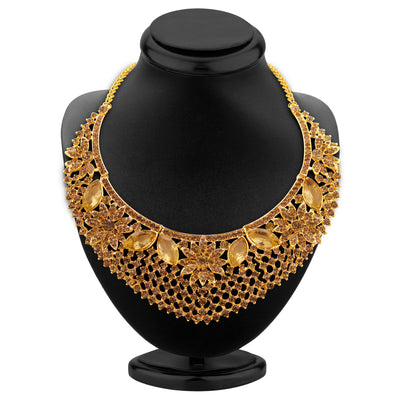 Sukkhi Finely LCT Stone Gold Plated AD Necklace Set For Women-2