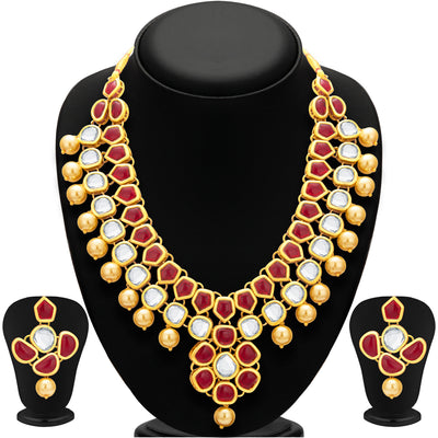 Sukkhi Appealing Gold Plated Kundan Necklace Set For Women-1