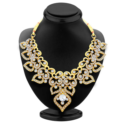 Sukkhi Delightly Gold Plated AD Necklace Set For Women-3