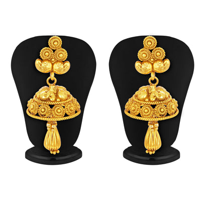 Sukkhi Fancy Laxmi Temple Jalebi Gold Plated Necklace Set For Women-5