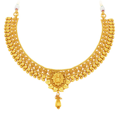 Sukkhi Fancy Laxmi Temple Jalebi Gold Plated Necklace Set For Women-2