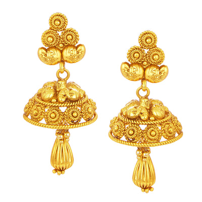 Sukkhi Fancy Laxmi Temple Jalebi Gold Plated Necklace Set For Women-4