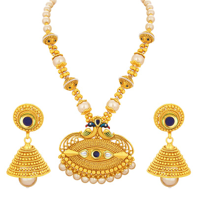 Sukkhi Royal Peacock Gold Plated Necklace Set For Women