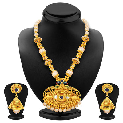Sukkhi Royal Peacock Gold Plated Necklace Set For Women-1