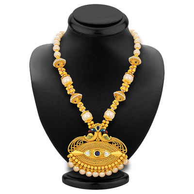 Sukkhi Royal Peacock Gold Plated Necklace Set For Women-3
