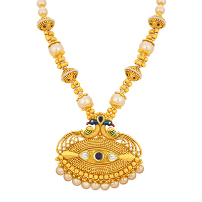 Sukkhi Royal Peacock Gold Plated Necklace Set For Women-2