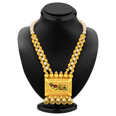 Sukkhi Fashionable Peacock Gold Plated Kundan Necklace Set For Women-3