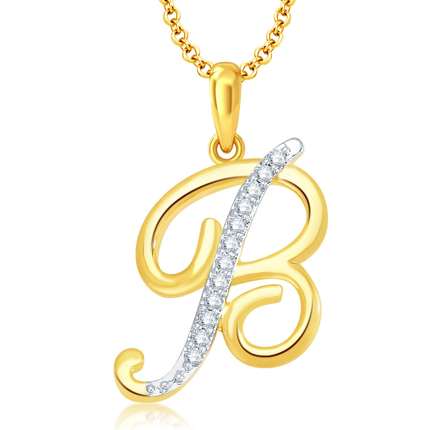 Pissara letter b gold and rhodium plated cz alphabet pendant pissara letter b gold and rhodium plated cz alphabet pendant mozeypictures Choice Image