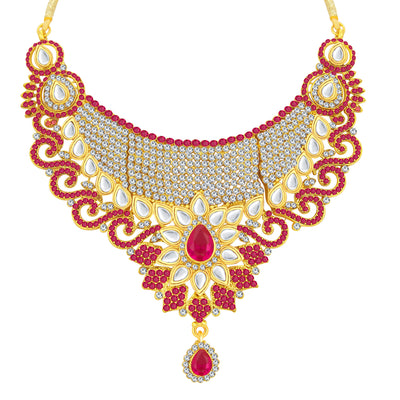Sukkhi Incredible Gold Plated AD Necklace Set For Women-3
