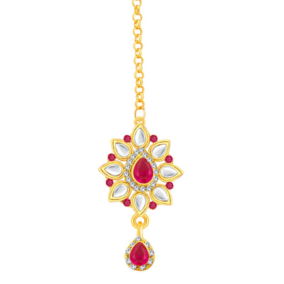 Sukkhi Incredible Gold Plated AD Necklace Set For Women-7