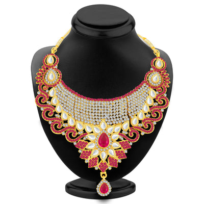 Sukkhi Incredible Gold Plated AD Necklace Set For Women-2