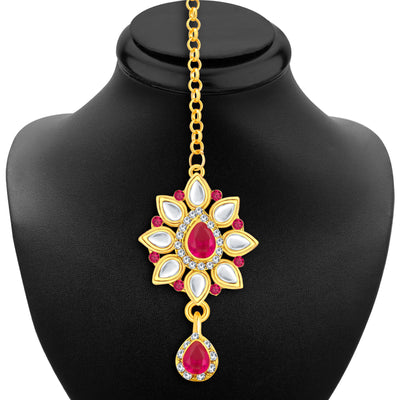 Sukkhi Incredible Gold Plated AD Necklace Set For Women-6