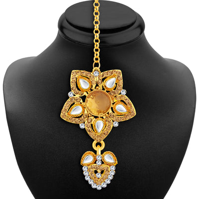 Sukkhi Stunning Gold Plated AD Necklace Set For Women-6