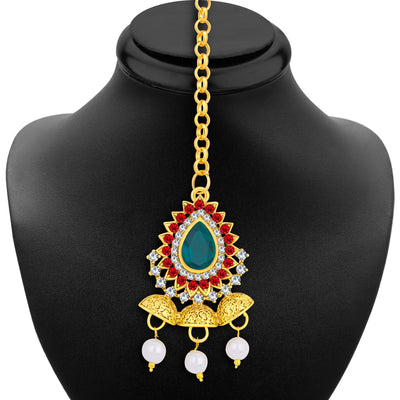 Sukkhi Glistening Gold Plated AD Necklace Set For Women-6