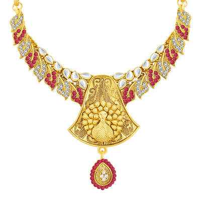 Sukkhi Delightly Gold Plated AD Necklace Set For Women-2