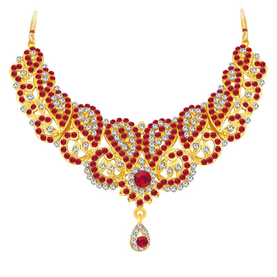 Sukkhi Fashionable Gold Plated AD Necklace Set For Women-3
