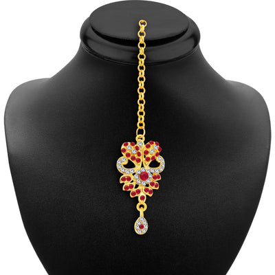 Sukkhi Fashionable Gold Plated AD Necklace Set For Women-6