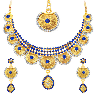 Sukkhi Bewitching Gold Plated AD Necklace Set For Women-1