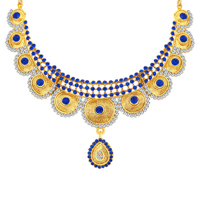 Sukkhi Bewitching Gold Plated AD Necklace Set For Women-3