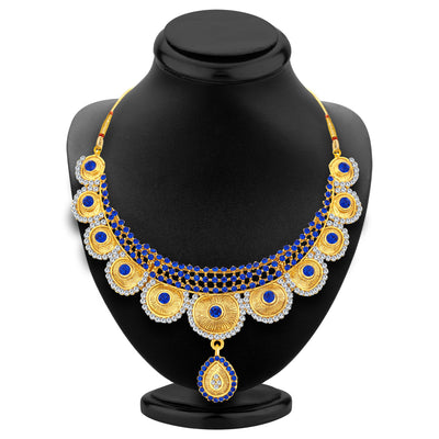 Sukkhi Bewitching Gold Plated AD Necklace Set For Women-2