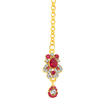 Sukkhi Pretty Gold Plated AD Necklace Set For Women-7
