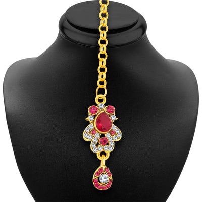 Sukkhi Pretty Gold Plated AD Necklace Set For Women-6