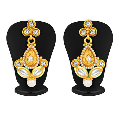 Sukkhi Ethnic Gold Plated AD Necklace Set For Women-5