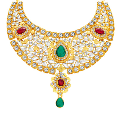 Sukkhi Classic Gold Plated Kundan Necklace Set For Women-3