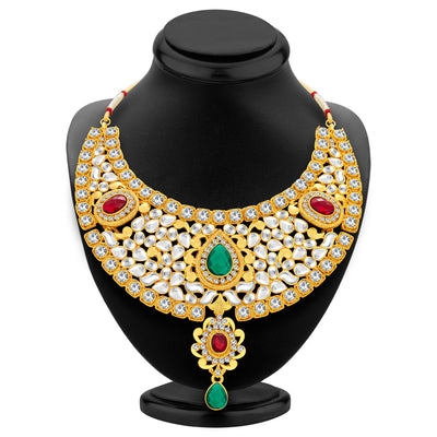 Sukkhi Classic Gold Plated Kundan Necklace Set For Women-2