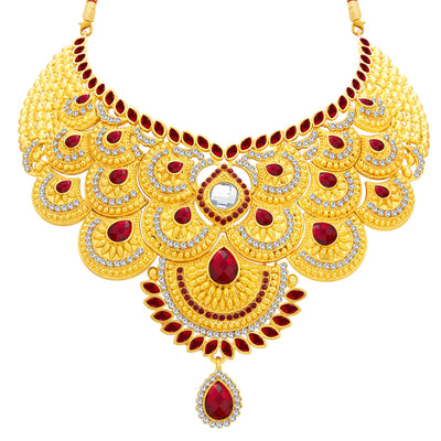 Sukkhi Elegant Gold Plated AD Necklace Set For Women-3
