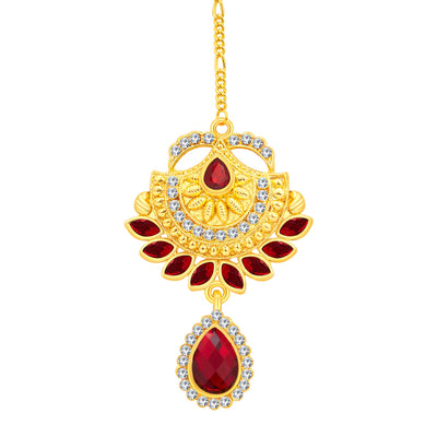 Sukkhi Elegant Gold Plated AD Necklace Set For Women-7