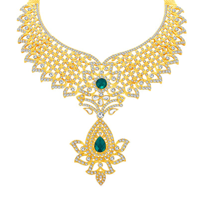 Sukkhi Modish Gold Plated AD Necklace Set For Women-3