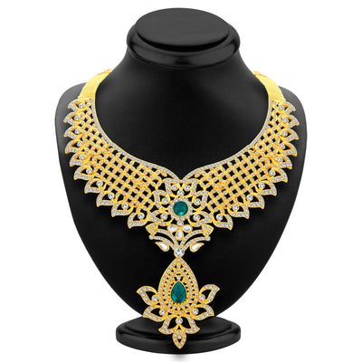 Sukkhi Modish Gold Plated AD Necklace Set For Women-2