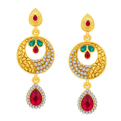Sukkhi Astonishing Gold Plated AD Necklace Set For Women-5